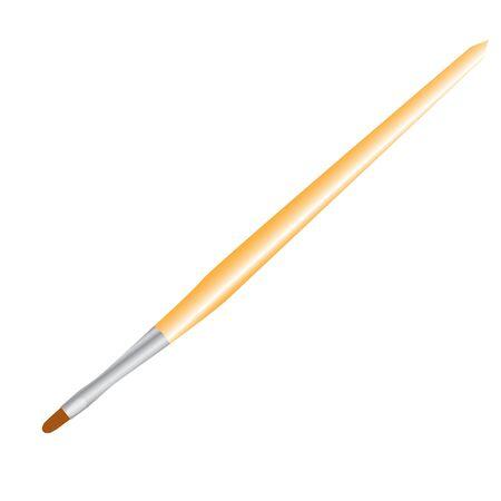 lip brush wooden raster illustration Stock Photo