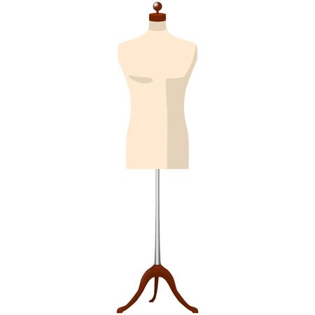 man mannequine dummy tailor isolated raster illustration