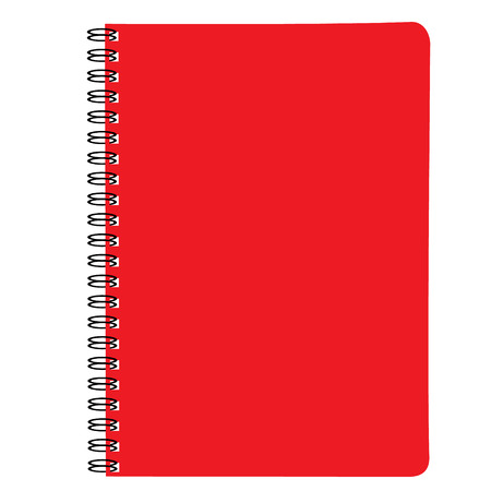 note book red raster illustration Stock Photo