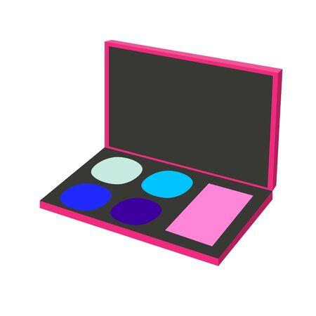 makeup palette pink purple raster illustration Stock Photo
