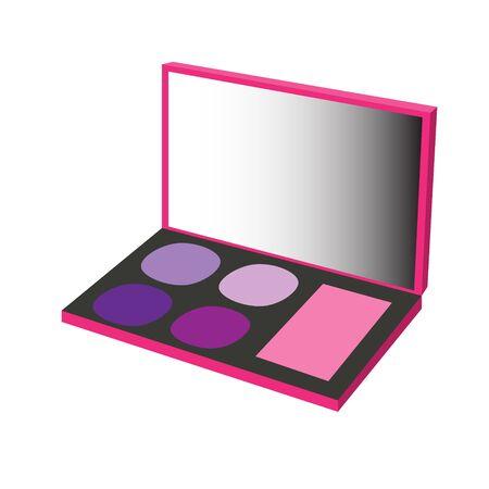 makeup palette pink violet raster illustration