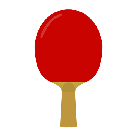 racquet: ping pong red racquet raster illustration Stock Photo
