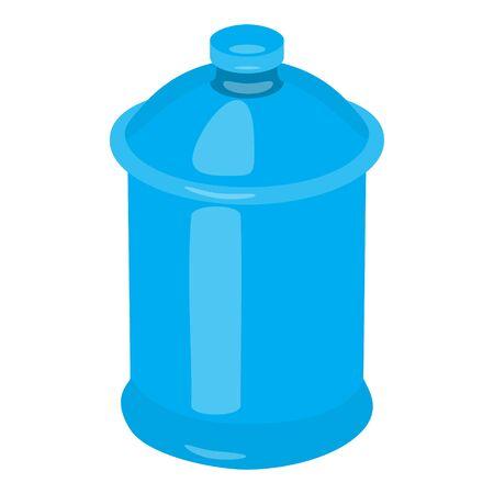 sugar pot blue porcelain isolated raster illustration realistic Stock Photo