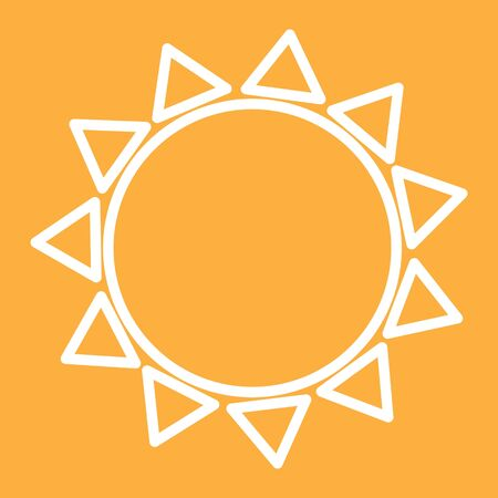 sun isolated outline icon raster illustration