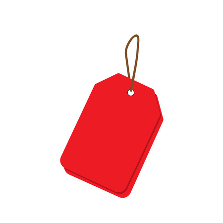Empty red sale price tags set. Sale tag. Raster illustration. Stock Photo