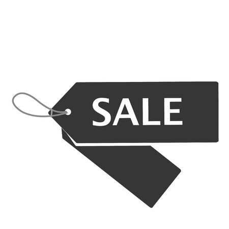 right side: Black Friday sale price tags set. Horizontal right side alignmentment Sale tag. Raster illustration.