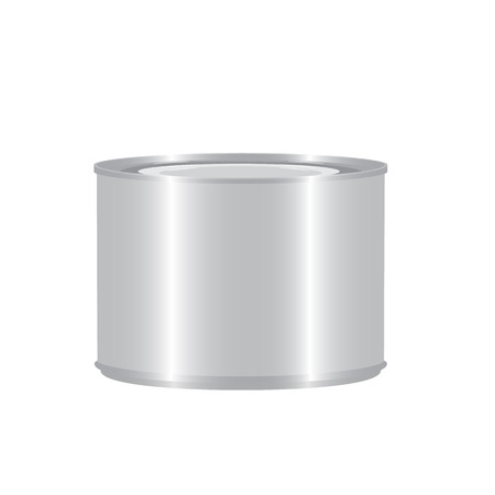 tincan: small aluminium tincan cylinder realistic isolated raster illustration