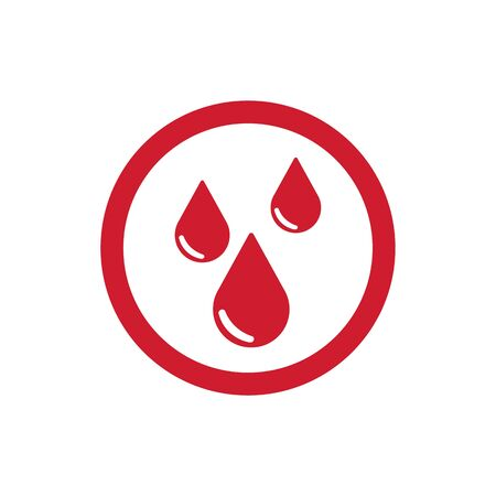 reflection of life: Drops of blood icon. Raster illustration