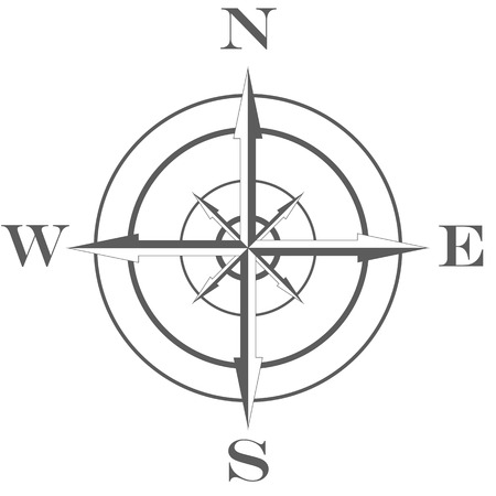 wind rose compass icon flat great for any use raster illustration