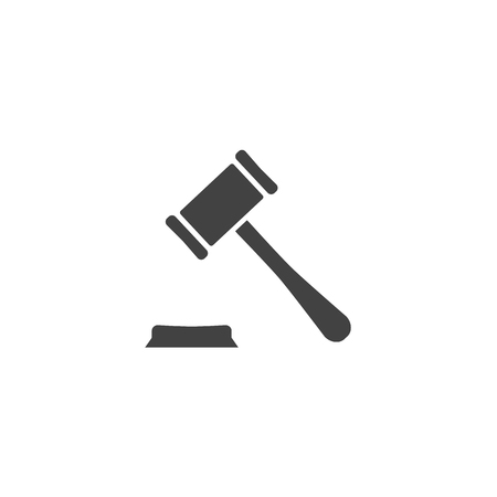 scale of justice: Judge or auction hummer Vector illustration