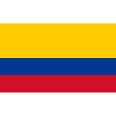 National Colombian flag. 矢量图像
