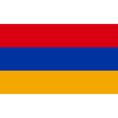 Armenia flag, official colors and proportion correctly. National Armenian flag. Flat Raster illustration.