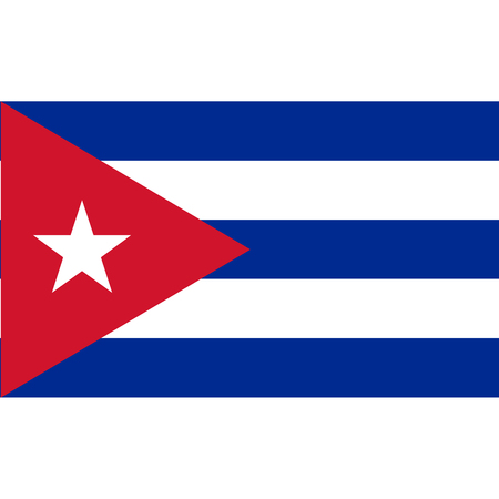Cuba flag, official colors and proportion correctly. National Cuban flag. Raster illustration Stok Fotoğraf