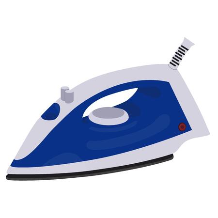 Realistic electric iron isolated on white background. Household item. Raster illustration