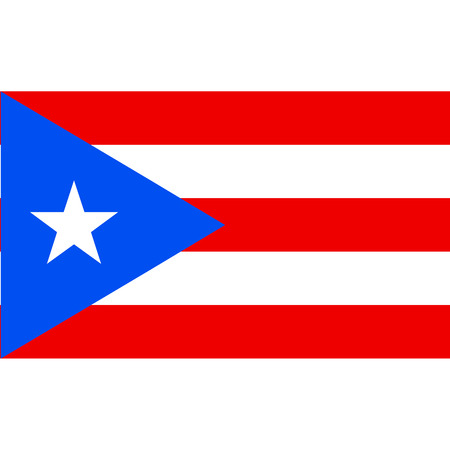 Puerto Rico flag, official colors and proportion correctly. National Puerto Rican flag. Raster illustration