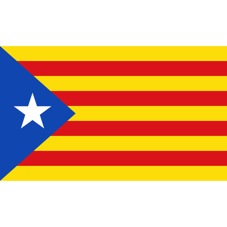 Catalonia Blue Estalda flag, official colors and proportion correctly. National Catalonia Blue Estalda flag. Vector illustration