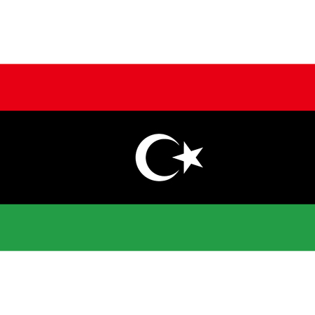 politic: Libya flag, official colors and proportion correctly. National Libya flag. Vector illustration Illustration