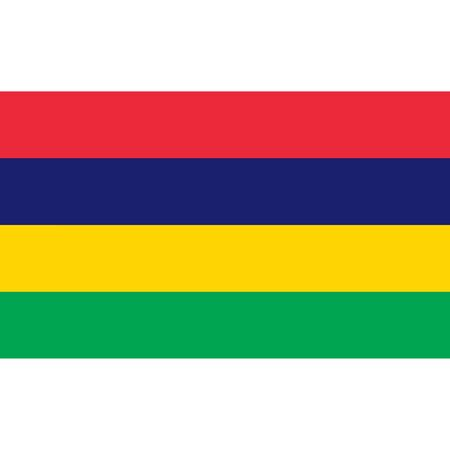 british culture: Mauritius flag, official colors and proportion correctly. National Mauritius flag. Vector illustration Illustration