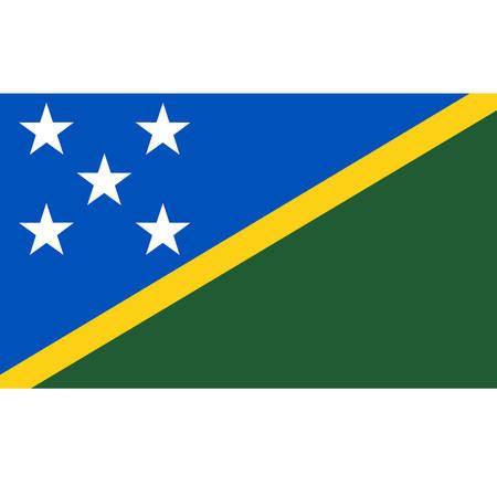 Solomon Islands flag, official colors and proportion correctly. National Solomon Islands flag. Vector illustration Illusztráció