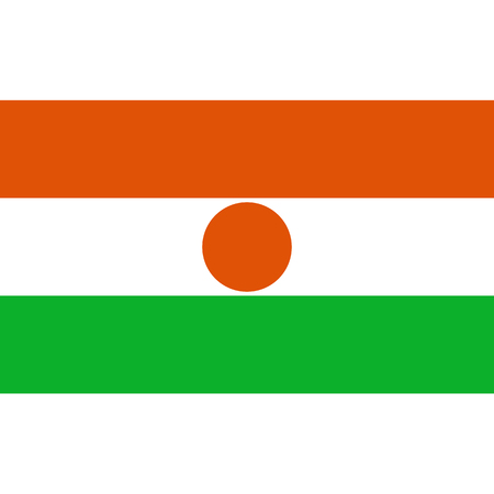 politic: Niger flag, official colors and proportion correctly. National Niger flag. Vector illustration