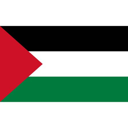 politic: Palestinian Territories flag, official colors and proportion correctly. National Palestinian flag. Vector illustration