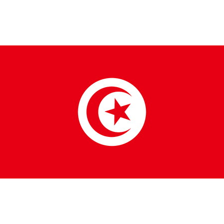 politic: Tunisia flag, official colors and proportion correctly. National Tunisia flag. Vector illustration