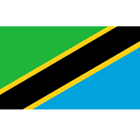 Tanzania flag, official colors and proportion correctly. National Tanzania flag. Vector illustration