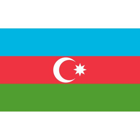 Azerbaijan flag, official colors and proportion correctly. National Azerbaijan flag. Vector illustration Illustration
