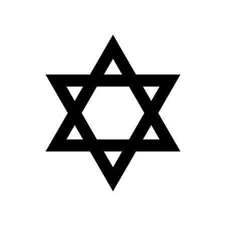 Stella di David simbolo religioso del giudaismo. Illustrazione vettoriale Archivio Fotografico - 87534213