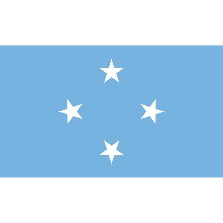 federal election: Federated States of Micronesia flag, official colors and proportion correctly. National Federated States of Micronesia flag. Raster illustration