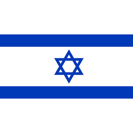 jewish star: Israel flag, official colors and proportion correctly. National Israel flag. Raster illustration