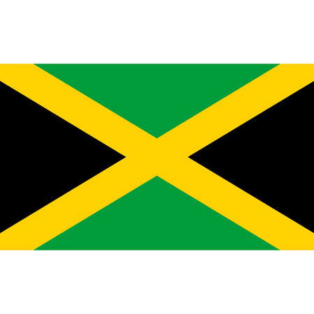jamaican: Jamaica flag, official colors and proportion correctly. National Jamaica flag. Raster illustration