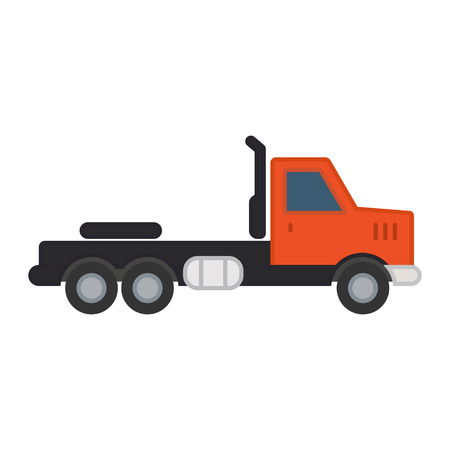 hauling: Truck without trailer simple icon on white background. Ground transport.