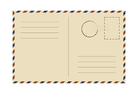 Postcard. Vintage template. Vector illustration. Illustration