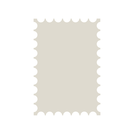 Postal Stamp Template Blank Postal Stamp With Perforation Holes