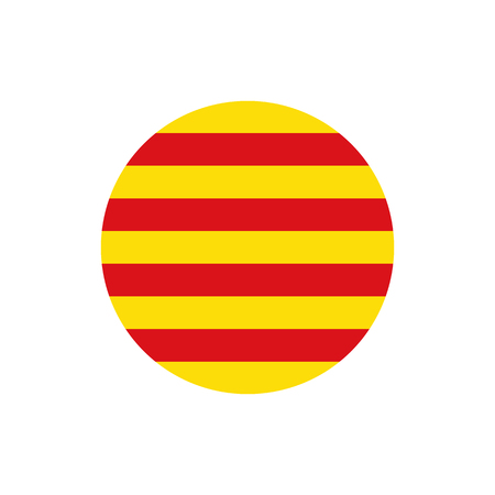 Catalonia flag, official colors and proportion correctly. National Catalonia flag. Vector illustration