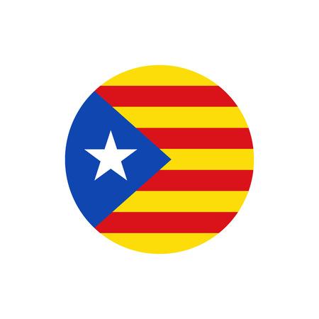 Bandera azul de Cataluña, colores oficiales y proporción correcta. Bandera Nacional de Cataluña Azul Estalda. Ilustración vectorial Foto de archivo - 89265590