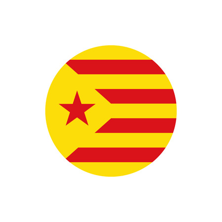 Catalonia Red Estalda flag, official colors and proportion correctly. National Catalonia Red Estalda flag. Vector illustration