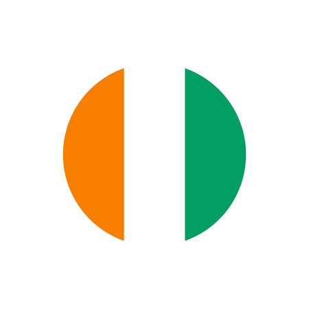 cote divoire ivory coast flag official colors and proportion correctly
