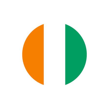 Cote dIvoire (Ivory Coast) flag, official colors and proportion correctly. National Cote dIvoire (Ivory Coast) flag. Flat vector illustration. Illusztráció