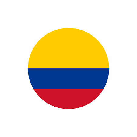 colombia flag official colors and proportion correctly national