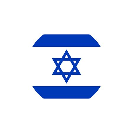 Israel flag, official colors and proportion correctly. National Israel flag. Vector illustration Illustration