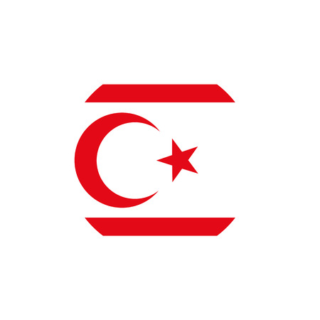 North Cyprus flag, official colors and proportion correctly. National North Cyprus flag. Vector illustration Illustration