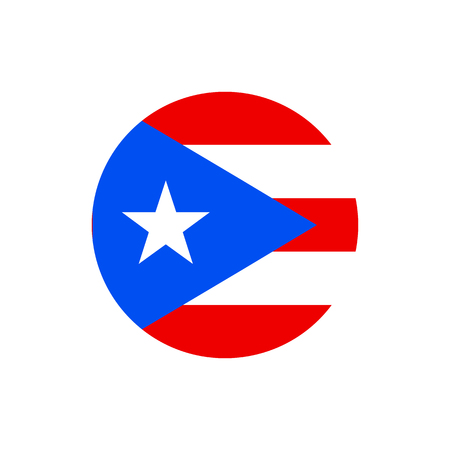 Puerto Rico flag, official colors and proportion correctly. National Puerto Rican flag. Vector illustration