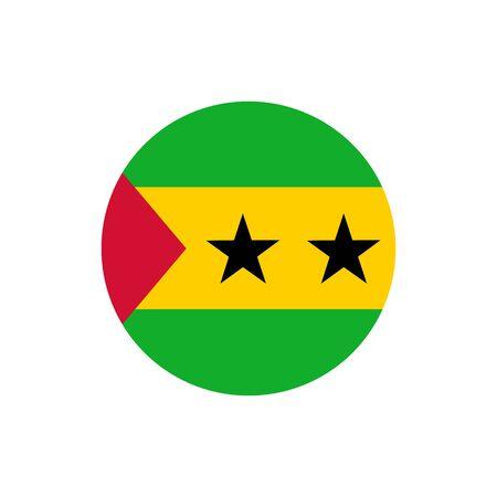 Sao Tome and Principe flag, official colors and proportion correctly. National Sao Tome and Principe flag. Illustration