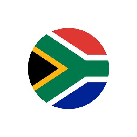 Bandera de la República de Sudáfrica, colores oficiales y proporción correcta. Bandera de la República de Sudáfrica. Ilustración vectorial