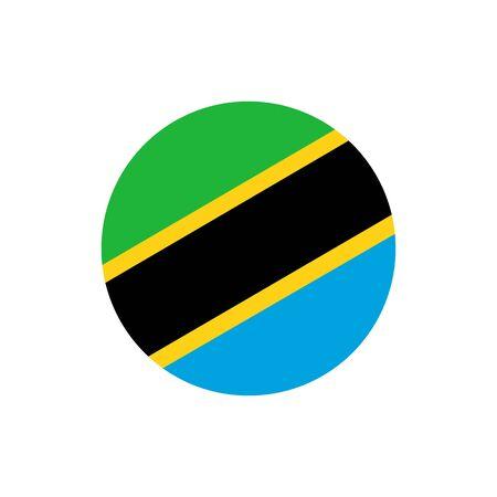 Tanzania flag, official colors and proportion correctly. National Tanzania flag. Vector illustration