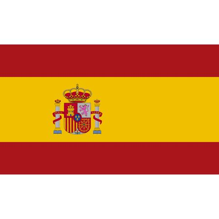 Spain flag, official colors and proportion correctly. National Spain flag. Vector illustration Ilustrace