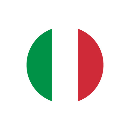 Italy flag, official colors and proportion correctly. National Italian flag. Vector illustration
