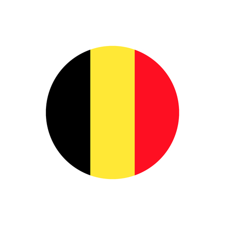 Belgium flag, official colors and proportion correctly. National Belgium flag. Flat vector illustration.
